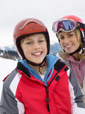 Young Mother And Son On Ski Vacation Royalty Free Stock Image