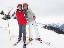 Young Mother And Son On Ski Vacation Royalty Free Stock Photo