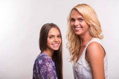 Young mother and teenager daughter Royalty Free Stock Image