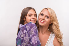 Young mother and teenager daughter Royalty Free Stock Images