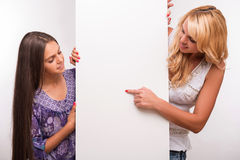 Young mother and teenager daughter Royalty Free Stock Photos