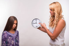 Young mother and teenager daughter Stock Images