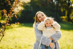 Young mother with toddler royalty free stock photography