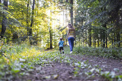 Young mother on a walk with her son Stock Image