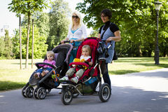 Young mothers in the park Royalty Free Stock Photography