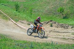 Young motorcycle racer Stock Photo