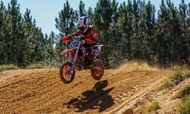 Motocross Dirtbike Action Scene Stock Images