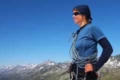 Young mountain climber Stock Image