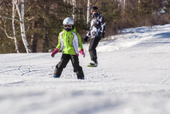 The young mountain skier Stock Images