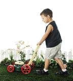 Young Mower Royalty Free Stock Photography