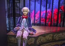 Young Mozart Wax Figure. In Madame Tussaud museum. Paris, France Royalty Free Stock Photos