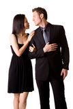 Young multi-ethnic couple royalty free stock images
