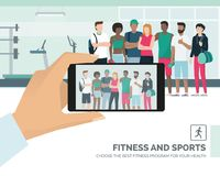 Sportspeople posing at the gym Stock Image