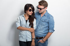 Young multicultural couple Stock Image