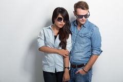 Young multicultural couple Royalty Free Stock Photography