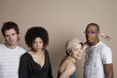 Young Multiethnic Friends Royalty Free Stock Image