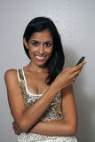 Young Multiracial Beauty with Cell Phone (3) Royalty Free Stock Images
