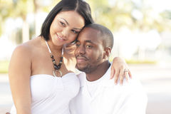 Young multiracial couple Royalty Free Stock Image