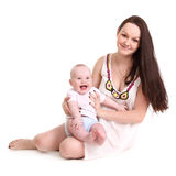 Young mum Royalty Free Stock Photo