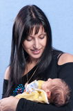 Young mum and the baby. Royalty Free Stock Images