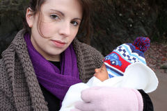 Young mum and baby Stock Image