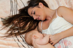 Young mum and baby. Royalty Free Stock Photography