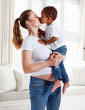Young mum and beautiful small son. Royalty Free Stock Images