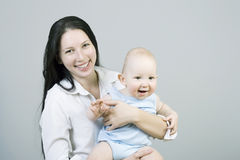 Young mum with the child Stock Photo