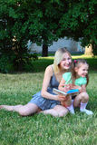 Young mum with children Stock Image