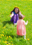 Young mum with a small daughter Stock Photography