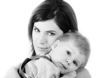 Young mum with son Stock Photography