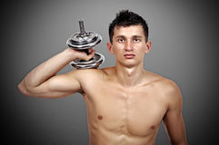 Young muscular guy Stock Images