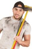 Young muscular latin cleaner Stock Photos