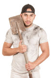 Young muscular latin construction worker Royalty Free Stock Photos