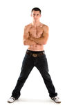 Young muscular male with crossed arms Stock Images
