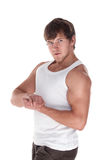 Young muscular man Royalty Free Stock Photography