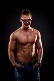 Young muscular man stock photos