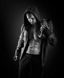 Young muscular men boxer Royalty Free Stock Photography