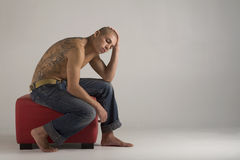 Young Muscular Tattooed Man Royalty Free Stock Image