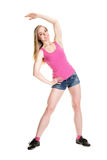 Young muscular woman posing Stock Images