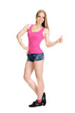 Young muscular woman posing Stock Photo