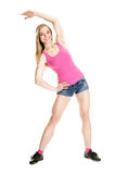 Young muscular woman posing Stock Photography