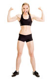 Young muscular woman posing Stock Photos