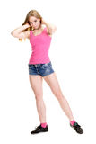Young muscular woman posing Royalty Free Stock Photos
