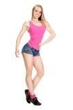 Young muscular woman posing Stock Image
