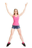 Young muscular woman posing Royalty Free Stock Image