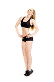 Young muscular woman posing Royalty Free Stock Photo