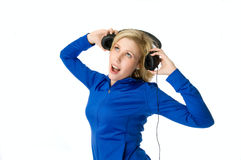 Young music lover Royalty Free Stock Photo