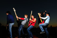 Young musical band Royalty Free Stock Photos