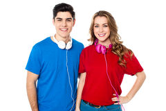 Young musical couple in love royalty free stock photos